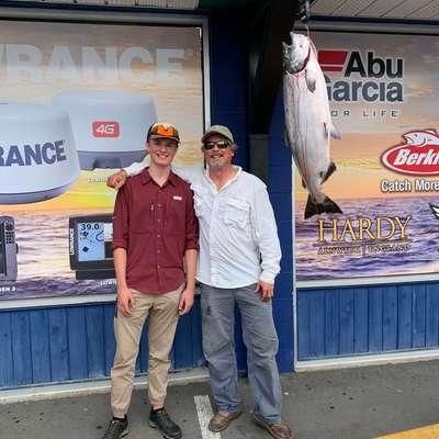 On Saturday, Devan Demarchi brought in a 29 lb 6 oz spring. He caught the big fish on anchovy in a Bloody Nose Teaser at 45 feet. Dean is now #3 on our leaderboard.