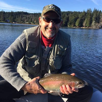 Tod Purdy caught and released this beauty on November 19,2019 while fly fishing on Kemp lake.