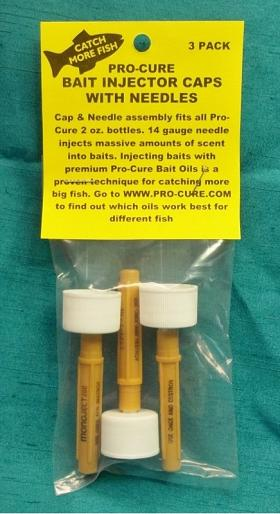 PRO-CURE BAIT INJECTOR CAPS WITH NEEDLE 2OZ