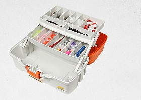 PLANO LETS FISH! TWO TRAY TACKLE BOX WITH 150 PIECE KIT