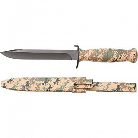 MAXAM DIGITAL CAMO FIXED BLADE KNIFE