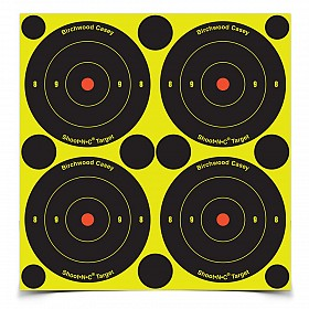 "BIRCHWOOD CASEY SHOOT-N-C 3"" BULLSEYE TARGET 48 PACK"