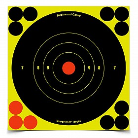 "BIRCHWOOD CASEY SHOOT-N-C 6"" BULLSEYE TARGET 12 PACK"