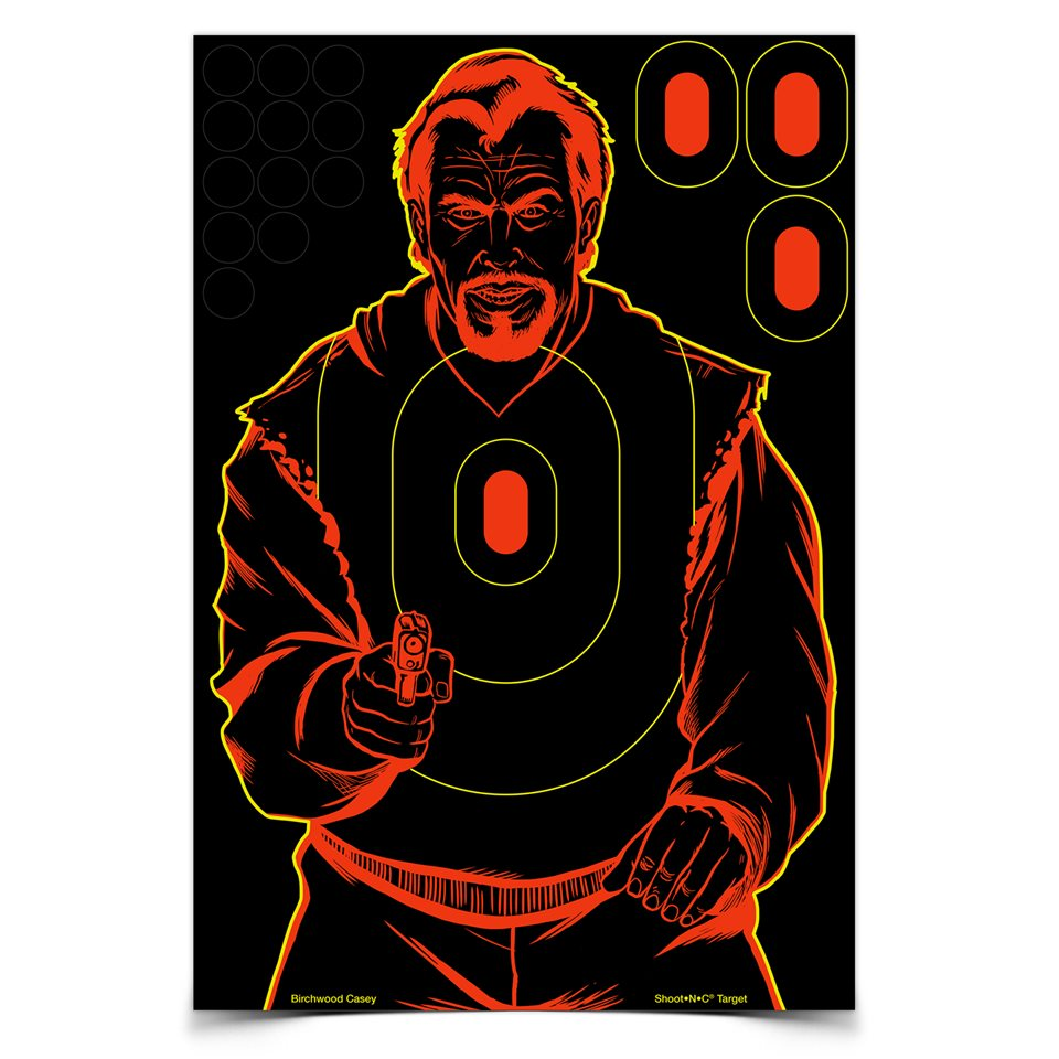 BIRCHWOOD CASEY SHOOT-N-C BAD GUY TARGET