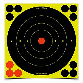 "BIRCHWOOD CASEY SHOOT-N-C 8"" BULLSEYE TARGET 6 PACK"