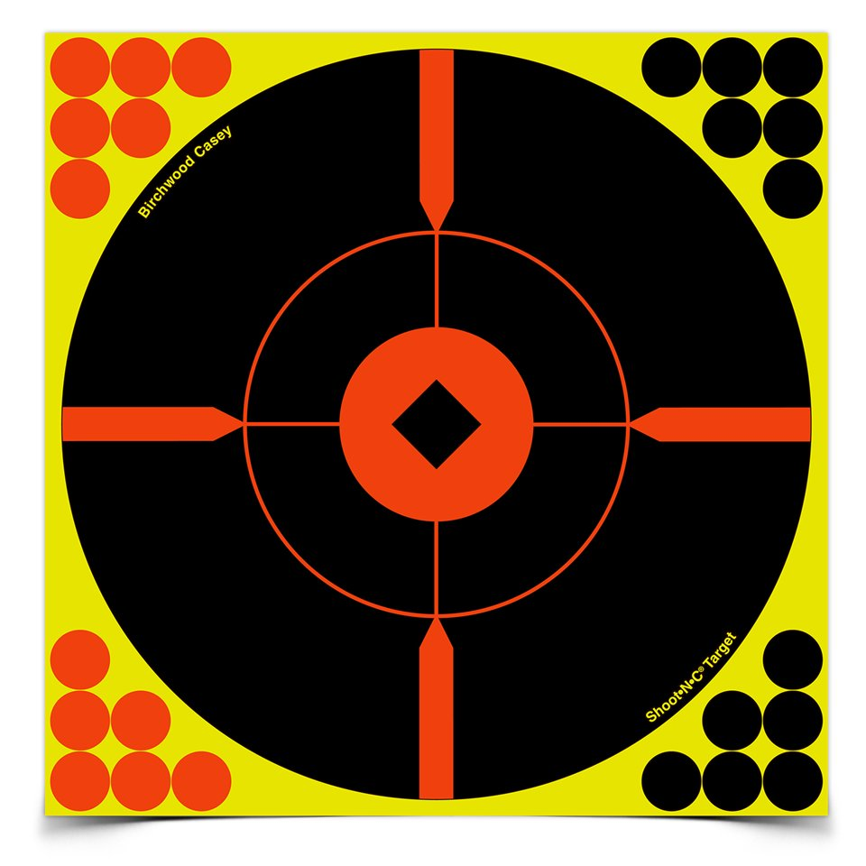 "BIRCHWOOD CASEY SHOOT-N-C 8"" BULLSEYE BMW TARGET 6 PACK"