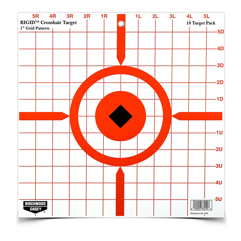 "BIRCHWOOD CASEY RIGID 12"" CROSSHAIR SIGHT-IN TARGET"