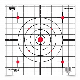 "BIRCHWOOD CASEY EZE-SCORER 12"" SIGHT IN PAPER TARGET"