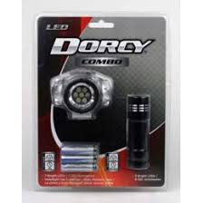 DORCY COMBO LED HEADLIGHT WITH 9 LED FLASHLIGHT
