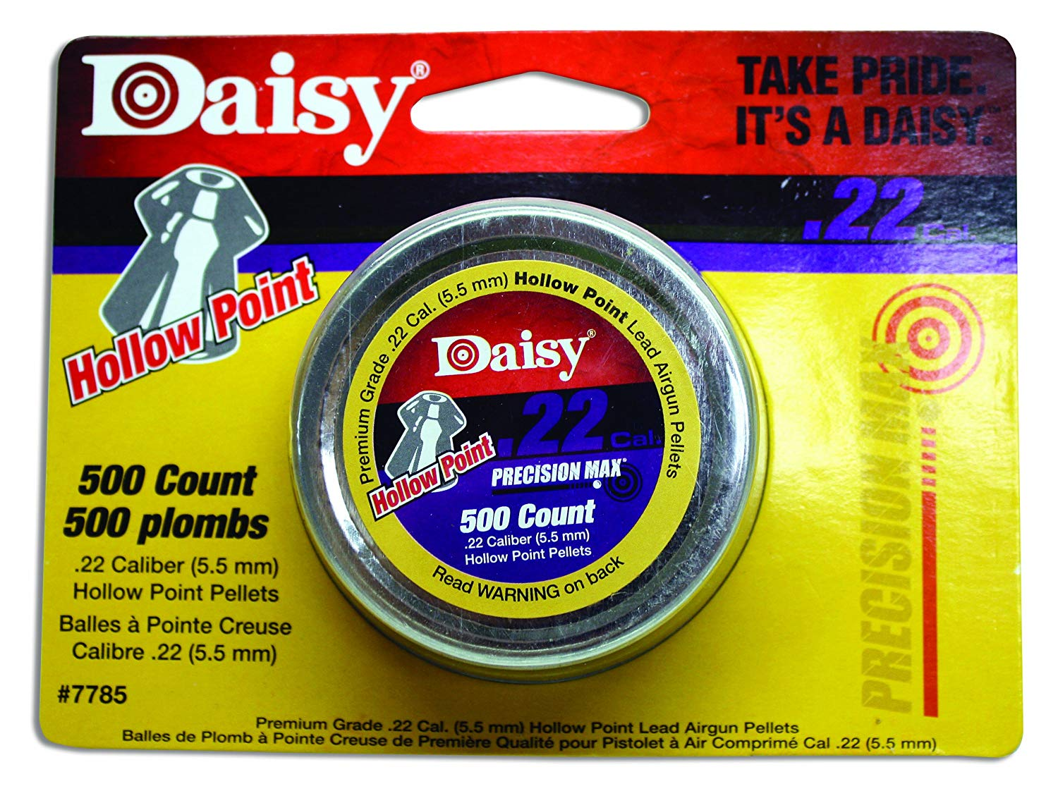 DAISY .22 CAL HOLLOW POINT PELLETS 500 PACK