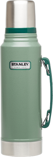 STANLEY CLASSIC VACUUM INSULATED BOTTLE HAMMERTONE GREEN 1.1 QT