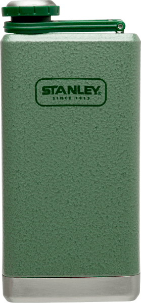 STANLEY ADVENTURE STAINLESS STEEL FLASK HAMMERTONE GREEN 8 OZ