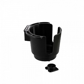 SCOTTY 310BK BLACK CUP HOLDER WITH BULKHEAD/GUNNEL MOUNT