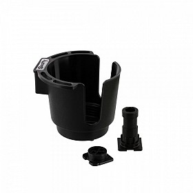 SCOTTY 311BK BLACK CUP HOLDER WITH BULKHEAD / GUNNEL MOUNT AND ROD HOLDER POST MOUNT