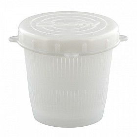 SCOTTY 670 VENTED BAIT JAR 1/2 L. WHITE JAR WITH LID