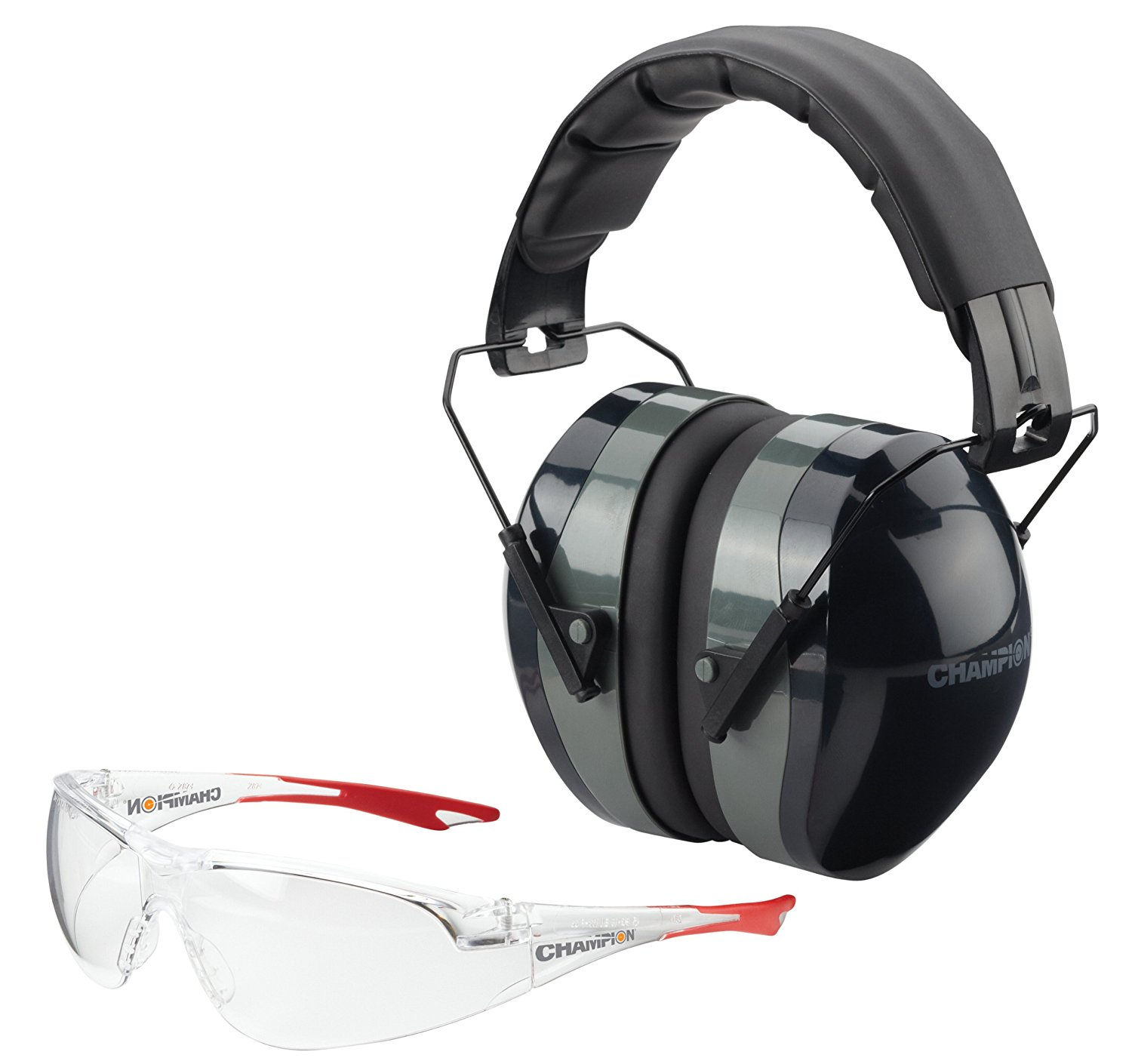 CHAMPION COMBO SHOOTING GLASSES AND MUFFS