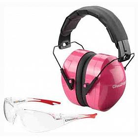 CHAMPION COMBO SHOOTING GLASSES AND MUFFS PINK