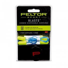 PELTOR SPORT BLAST DISPOSABLE EARPLUGS WITH CORD