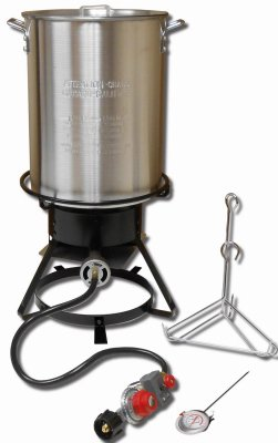 KING KOOKER 29QT ALUMINUM TURKEY FRYING COOKER PACKAGE
