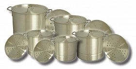 KING KOOKER 5PC NESTED ALUMINUM POT SET KK20-52