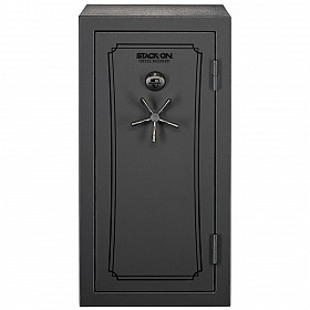 STACK ON 36-40 GUN TOTAL DEFENSE SAFE BIOMETRIC LOCK IN GREY PEBBLE TD-40-GP-B-S