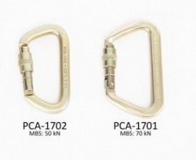 PW STEEL LOCKING CARABINER