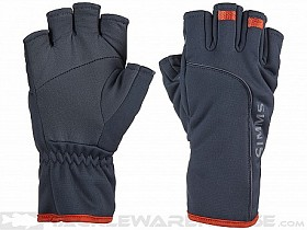 SIMMS GUIDE WINDBLOC HALF FINGER RAVEN