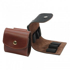 LEVY'S LEATHER SHOT SHELL POUCH WALNUT