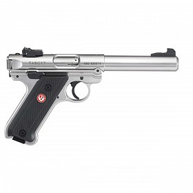 RUGER MARK IV STAINLESS STEEL SEMI AUTOMATIC 22LR PISTOL