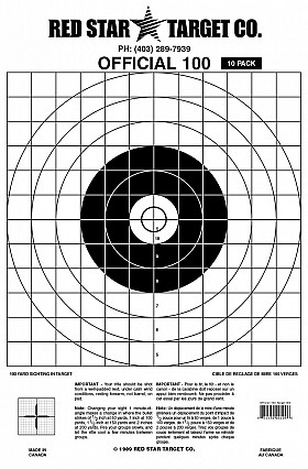 RED STAR OFFICIAL 100 YARD TARGET 10 PACK