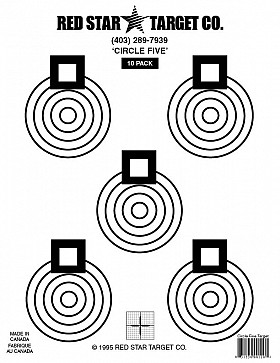 RED STAR FIVE CIRCLE TARGET 5 PACK