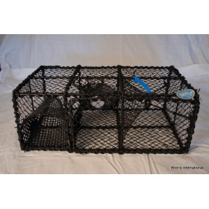 "PACIFIC VINYL COATED 28"" STEEL PRAWN TRAP (SWEDEN RIGID)"