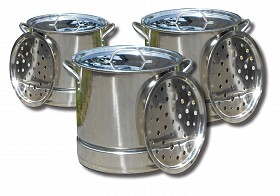 KING KOOKER STAINLESS STEEL POT WITH LID